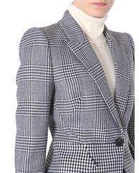 McQ Alexander McQueen Gray Patchwork Houndstooth Jacket