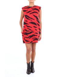 Philosophy Di Lorenzo Serafini Red Short Sleeveless Dress