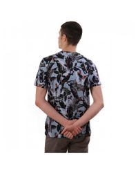 Ted Baker Blue Beakme Ss Parrot Print T Shirt for men
