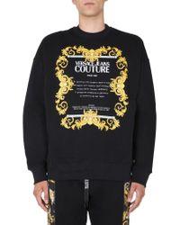 Versace Jeans Black Crew Neck Sweatshirt for men