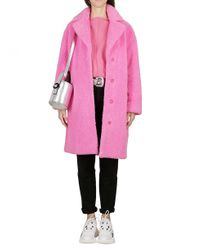 STAND Pink Cappotto Teddy Bubble