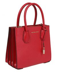 MICHAEL Michael Kors Mercer Small Red Bag