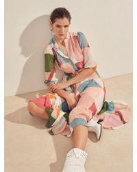 Suncoo Multicolor Celena Multicolour Graphic Print Dress