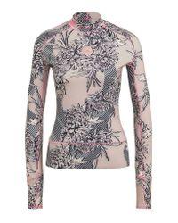 Adidas By Stella McCartney Pink T Shirt Long Sleeve