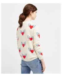 Chinti & Parker White All Over Heart Sweater