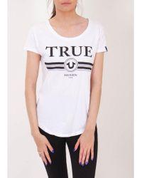 True Religion Trucci Crew T-shirt Colour: White
