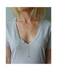 Spectrum | Metallic Blush Drop Y Necklace | Lyst