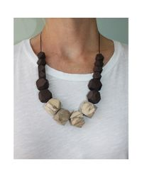 Spectrum | Multicolor Modernist Wood Necklace | Lyst