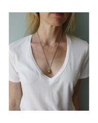 Spectrum | Multicolor Brass Teardrop Necklace | Lyst