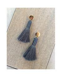 Spectrum | Blue Tassel Earrings | Lyst