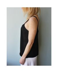 Vince | Black Wide Strap Camisole | Lyst