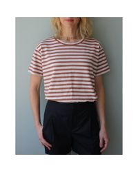 Vince | Multicolor Stripe Short Sleeve Crew | Lyst