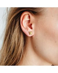 AUrate New York Yellow Pyramid Earrings