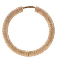 Carolina Bucci | Metallic Rose Gold Sparkly Mirador Hoops | Lyst