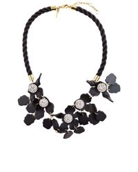 Lele Sadoughi | Jet Black Crystal Lily Necklace | Lyst