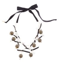 Lele Sadoughi | Black Kakui Nut Shell Collector Necklace | Lyst