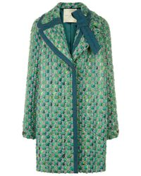 Marco De Vincenzo | Green Tweed Double Breasted Coat | Lyst