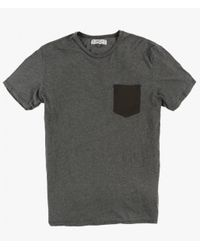 Groceries Apparel - Gray Contrast Pocket Tee for Men - Lyst