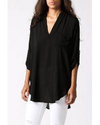 Azalea | Black Dylan 3/4 Sleeve Woven Tunic | Lyst