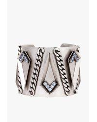Nicole Romano | Metallic Spear Cuff W Swarovski Crystal | Lyst