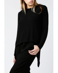 LNA - Black Ace Split Back Sweater - Lyst