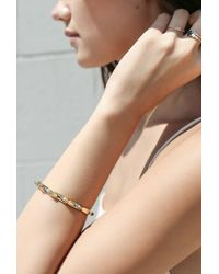 Jennie Kwon - Pink White Equilibrium Cuff Ring - Lyst