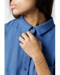 Azalea - Metallic Small Eye Bracelet - Lyst