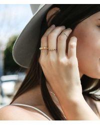 Loren Stewart   Metallic Five Diamond Prong Ring   Lyst