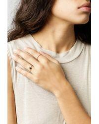 Loren Stewart - Metallic Five Diamond Prong Ring - Lyst