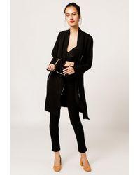 SOIA & KYO - Black Mollie Drapy Jacket - Lyst