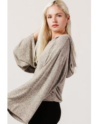 Azalea - Multicolor Hooded L/s Knit Sweater - Lyst