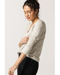 LNA - Gray Crossed Over Sweatshirt - Lyst
