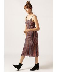 Again - Multicolor Delilah Corduroy Dress - Lyst