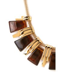 Forever 21 - Metallic Faux Tortoise Bib Necklace - Lyst