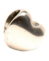Trollbeads Metallic Heart Silver Bead