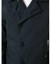 Stone Island Blue Single Breasted Coat for men