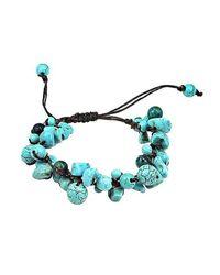 Aeravida | Blue Infinite Clusters Turquoise-malachite Stone Cotton Rope Bracelet | Lyst