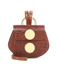 Chloé | Metallic Faye Mini Leather Shoulder Bag | Lyst