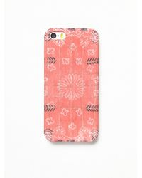 Free People | Red Print Rubber Iphone 5/6 Case | Lyst