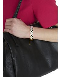 COACH - Metallic Gold Plated Enamel Bracelet - Lyst