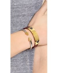Vita Fede | Metallic Mini Titan Two Tone Bracelet | Lyst