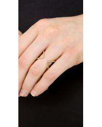 Michael Kors Metallic Open Delicate Arrow Ring Goldclear