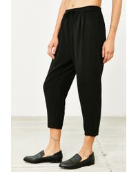 Silence + Noise Black Cropped Trouser