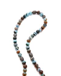 Hipchik Couture - Blue Elephant Head Agate Necklace Turquoisebrown - Lyst