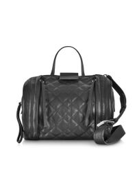 Marc By Marc Jacobs Black Moto Quilted Barrel Bag