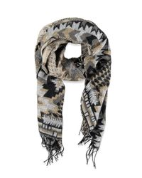 Forever 21 - Black Southwestern-inspired Fringe Scarf You've Been Added To The Waitlist - Lyst