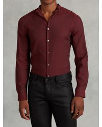 John Varvatos | Red Wingtip Cotton Shirt for Men | Lyst