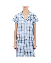 Steven Alan - Blue Women's Piped Pajama Shirt - Lyst