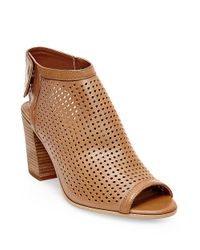 Steven by Steve Madden | Purple Suzy Perforated Leather Booties | Lyst