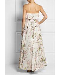 Dolce & Gabbana | Pink Floralprint Silkorganza Gown | Lyst
